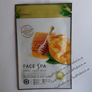 Маска для лица с экстрактом манго и диким медом Amarit Fresh fruit mask
